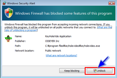 Windows FireWall E Dialog